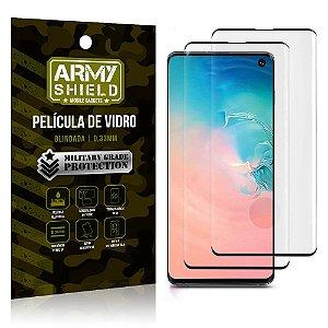 Kit 2 Películas de Vidro Blindada 3D Full Cover Galaxy S10 - Armyshield