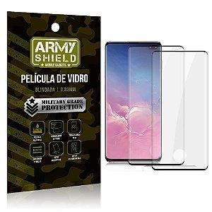 Kit 2 Películas de Vidro Blindada 3D Full Cover Galaxy S10 Plus - Armyshield