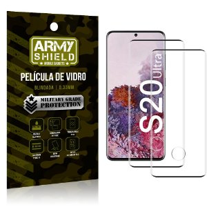 Kit 2 Películas de Vidro Blindada 3D Full Cover Galaxy S20 Ultra - Armyshield