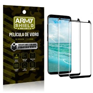 Kit 2 Películas de Vidro Blindada 3D Full Cover Galaxy S8 Plus - Armyshield