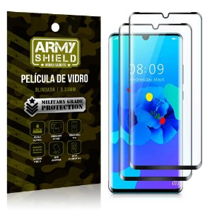 Kit 2 Películas de Vidro Blindada 3D Full Cover Huawei P30 Pro - Armyshield