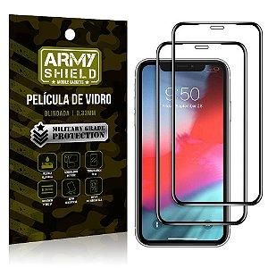 Kit 2 Películas de Vidro Blindada 3D Full Cover iPhone XR 6.1 - Armyshield