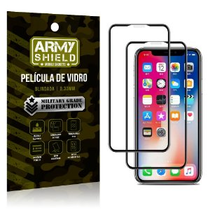 Kit 2 Películas de Vidro Blindada 3D Full Cover iPhone XS Max 6.5 - Armyshield