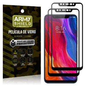 Kit 2 Películas de Vidro Blindada 3D Full Cover Mi 8 - Armyshield
