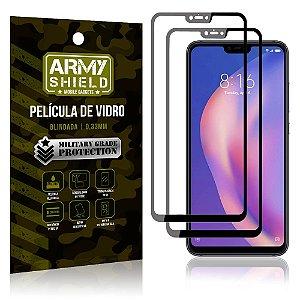 Kit 2 Películas de Vidro Blindada 3D Full Cover Mi 8 Lite - Armyshield
