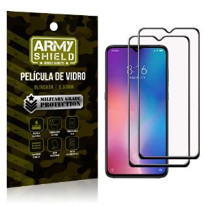 Kit 2 Películas de Vidro Blindada 3D Full Cover Mi 9 Lite - Armyshield