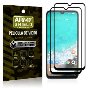 Kit 2 Películas de Vidro Blindada 3D Full Cover Mi A3 (CC9e) - Armyshield