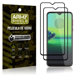 Kit 2 Películas de Vidro Blindada 3D Full Cover Moto G8 Play - Armyshield