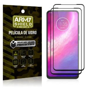 Kit 2 Películas de Vidro Blindada 3D Full Cover Moto One Hyper - Armyshield