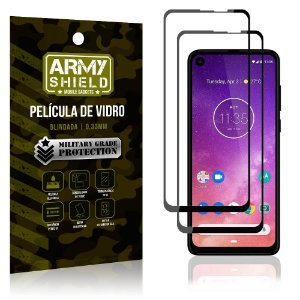 Kit 2 Películas de Vidro Blindada 3D Full Cover Moto One Vision - Armyshield