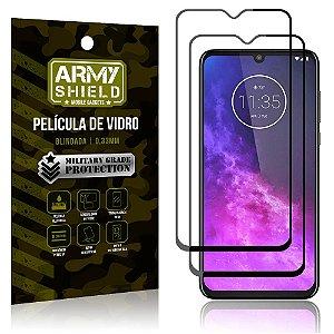 Kit 2 Películas de Vidro Blindada 3D Full Cover Moto One Zoom - Armyshield