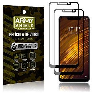 Kit 2 Películas de Vidro Blindada 3D Full Cover Pocophone F1 - Armyshield