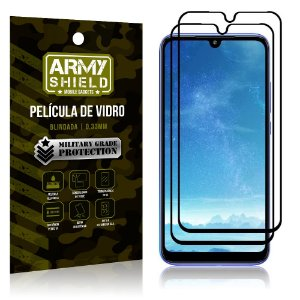 Kit 2 Películas de Vidro Blindada 3D Full Cover Redmi 7 - Armyshield