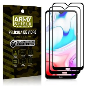 Kit 2 Películas de Vidro Blindada 3D Full Cover Redmi 8 - Armyshield
