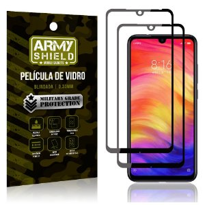 Kit 2 Películas de Vidro Blindada 3D Full Cover Redmi Note 7 - Note 7 Pro - Armyshield