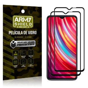 Kit 2 Películas de Vidro Blindada 3D Full Cover Redmi Note 8 Pro - Armyshield