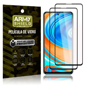 Kit 2 Películas de Vidro Blindada 3D Full Cover Redmi Note 9S - Armyshield