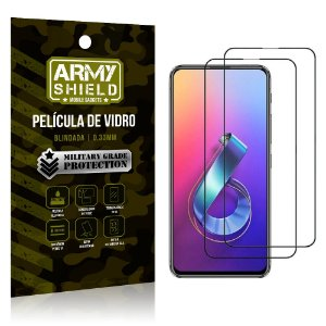 Kit 2 Películas de Vidro Blindada 3D Full Cover Zenfone 6 ZS630KL - Armyshield