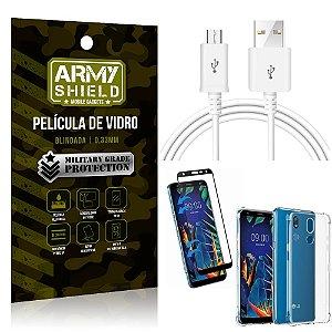 Kit Cabo Usb 2M LG K12 K12 Plus + Capa Anti Impacto + Película Vidro 3D - Arymshield