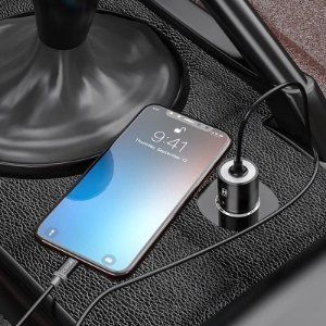Carregador Veicular Turbo 4.0 Tipo C Galaxy Note 20 + Capa Anti Impacto + Película Vidro 3D