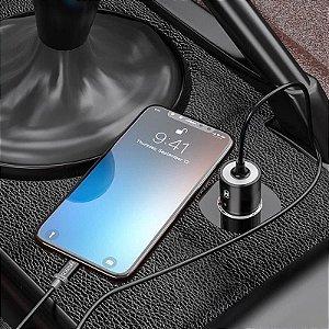 Carregador Veicular Turbo 4.0 Tipo C Galaxy Note 20 Ultra + Capa Anti Impacto + Película 3D