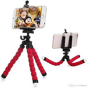 Kit Mini Tripé + Selfie Ring Light Moto One Fusion + Capa Anti Impacto + Película Vidro 3D
