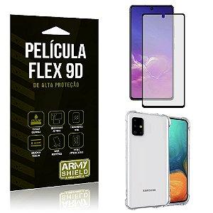 Capa Anti Impacto + Película Flex 9D Cobre a Tela Toda Blindada Galaxy Note 10 Lite - Armyshield