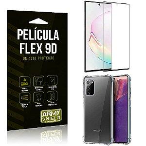 Capa Anti Impacto + Película Flex 9D Cobre a Tela Toda Blindada Galaxy Note 20 Ultra - Armyshield