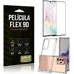 Capa Anti Impacto + Película Flex 9D Cobre a Tela Toda Blindada Galaxy Note 20 - Armyshield