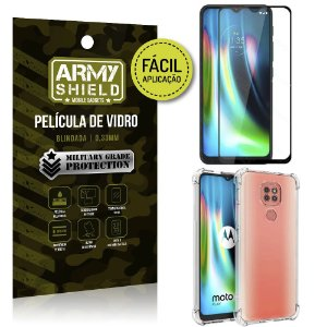 Kit Película 3D Fácil Aplicação Moto G9 Play Película 3D + Capa Anti Impacto - Armyshield