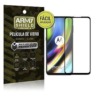 Película de Vidro 3D Fácil Aplicação Moto G9 Plus - Armyshield