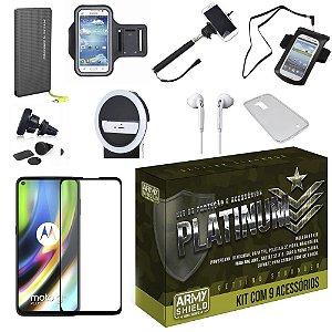 Kit Platinum Tipo C Moto G9 Plus com 9 Acessórios - Armyshield