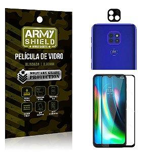Kit Película de Lente Câmera Anti Risco + Película de Vidro 3D Moto G9 Play - Armyshield