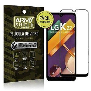 Película de Vidro 3D Fácil Aplicação LG K22 - Armyshield