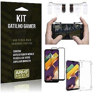 Kit Gatilho Gamer LG K22 Gatilho + Capa Anti Impacto + Película Vidro 3D - Armyshield