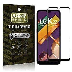 Película de Vidro 3D Cobre a Tela Toda Blindada LG K22 Plus - Armyshield