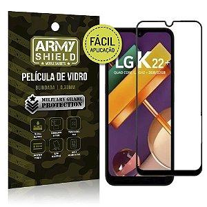 Película de Vidro 3D Fácil Aplicação LG K22 Plus - Armyshield