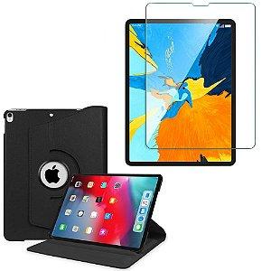 Kit Capa Giratória + Película de Vidro iPad Pro 12.9' - Armyshield