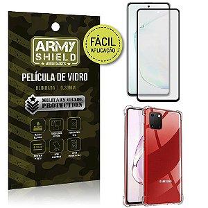 """Película de Vidro 3D para Note 10 Lite 6,7"""" + Capinha Anti Impacto - Armyshield"""