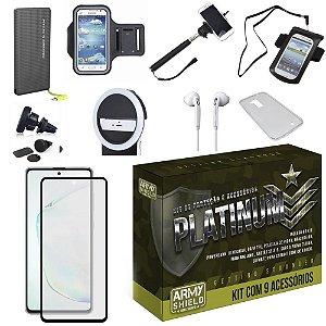 Kit Platinum Tipo C Galaxy Note 10 Lite com 9 Acessórios - Armyshield