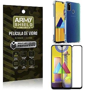 Kit Anti Impacto Galaxy M31 Capinha Anti Impacto + Película de Vidro 3D - Armyshield
