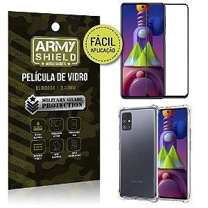 Kit Película 3D Fácil Aplicação Galaxy M51 Película 3D + Capa Anti Impacto - Armyshield