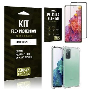 Kit Flex Protection Galaxy S20 FE Capa Anti Impacto + Película Flex 5D - Armyshield