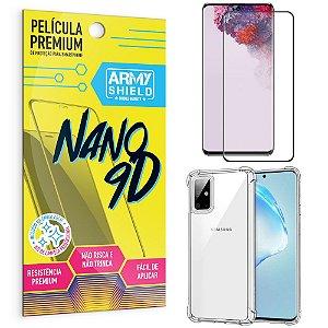 Kit Película Premium Nano 9D para Galaxy S20 + Capa Anti Impacto - Armyshield