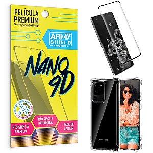 Kit Película Premium Nano 9D para Galaxy S20 Ultra + Capa Anti Impacto - Armyshield