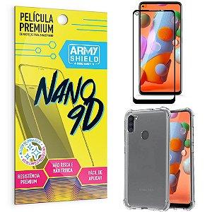 Kit Película Premium Nano 9D para Galaxy A11 + Capa Anti Impacto - Armyshield