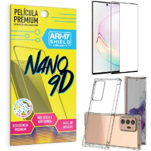 Kit Película Premium Nano 9D para Galaxy Note 20 Ultra + Capa Anti Impacto - Armyshield
