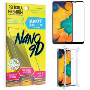 Kit Película Premium Nano 9D para Galaxy A30 + Capa Anti Impacto - Armyshield