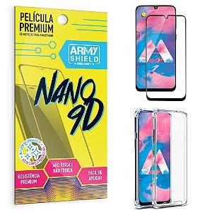 Kit Película Premium Nano 9D para Galaxy M30 + Capa Anti Impacto - Armyshield