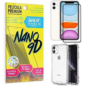 Kit Película Premium Nano 9D para iPhone 11 6.1 + Capa Anti Impacto - Armyshield